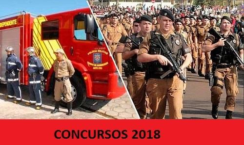 Confira o Edital para os Concursos da PM e Corpo de Bombeiro. Salários  R$ 2.778,43  é de R$ 5.823,07+auxílio-alimentação de R$ 300.