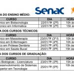 Estão abertas as inscrições para os Cursos EAD e Presencial do Senac.